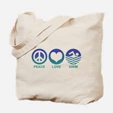 Peace Love Swim Tote Bag