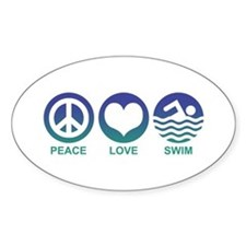 Peace Love Swim Decal