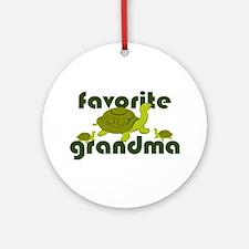 Favorite Grandma Ornament (Round)