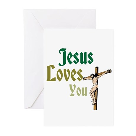 Jesus Loves You Greeting Cards (Pk of 10)