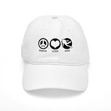 Peace Love Dive Baseball Cap