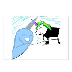 Dani the Unicorn and Neil the Narwhal Postcards (P
