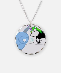 Dani the Unicorn and Neil the Narwhal Necklace