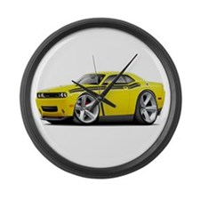 Challenger RT Yellow-Black Car Large Wall Clock
