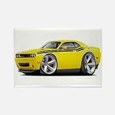 Challenger RT Yellow-Black Car Rectangle Magnet