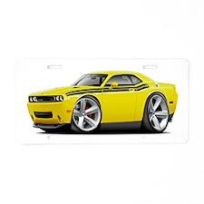 Challenger RT Yellow-Black Car Aluminum License Pl