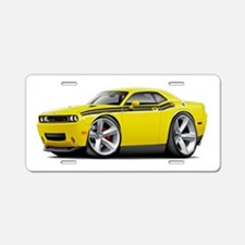 Challenger RT Yellow-Black Car Aluminum License Pl