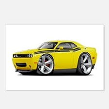 Challenger RT Yellow-Black Car Postcards (Package