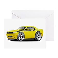 Challenger RT Yellow-Black Car Greeting Card