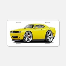 Challenger RT Yellow Car Aluminum License Plate