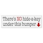 Hide-A-Key Bumper Sticker