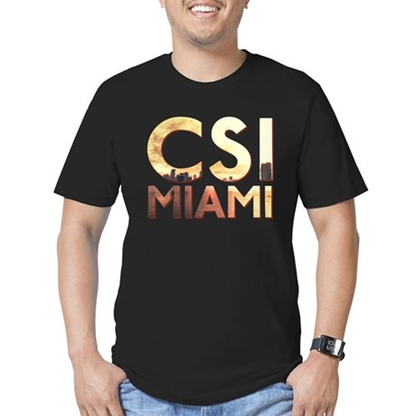 CSI Miami Skyline Men's Fitted T-Shirt (dark)