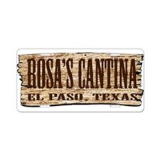 Rosa's Cantina Aluminum License Plate