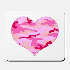 Pink Camo Heart Mousepad