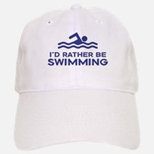 I'd Rather be Swimming Baseball Baseball Cap