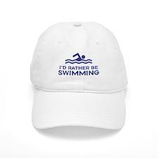 I'd Rather be Swimming Baseball Cap
