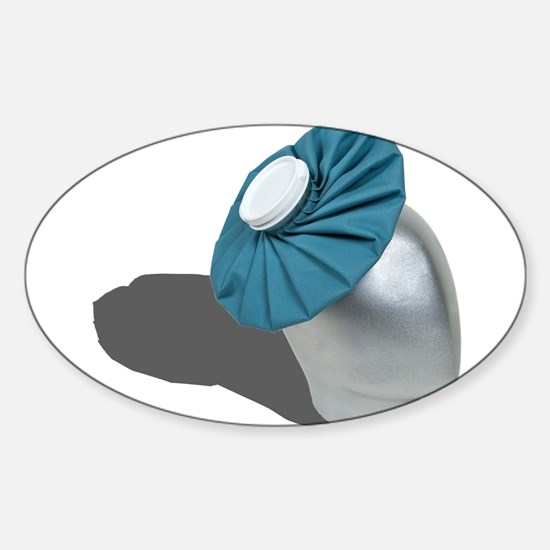 Ice Pack on Head Sticker (Oval)