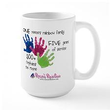 500+ Orphans No More Large Mug