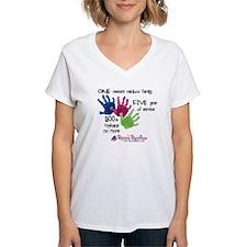 500+ Orphans No More Women's V-Neck T-Shirt