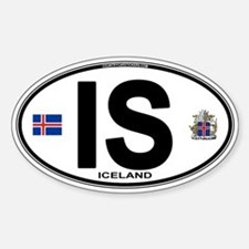 Iceland Euro Oval Decal