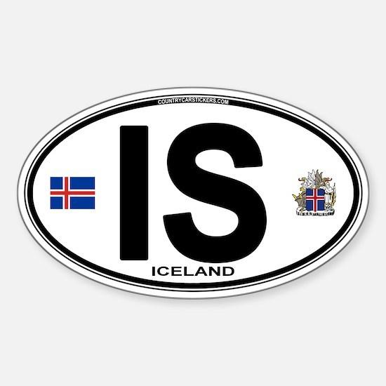 Iceland Euro Oval Sticker (Oval)