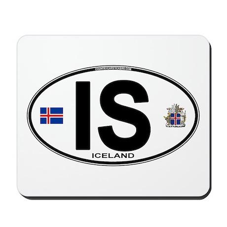Iceland Euro Oval Mousepad