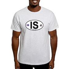 Iceland Euro Oval T-Shirt