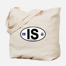 Iceland Euro Oval Tote Bag