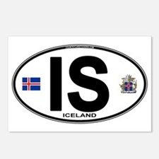 Iceland Euro Oval Postcards (Package of 8)