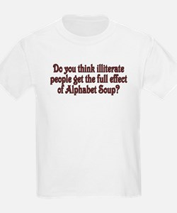 Do you think illiterate peopl Kids T-Shirt