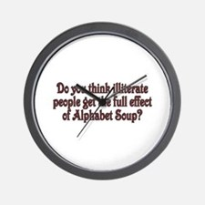 Do you think illiterate peopl Wall Clock