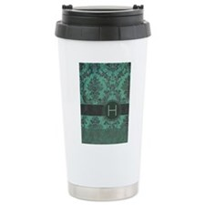 Vintage Damask Monogram Travel Mug
