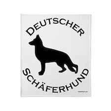 Deutscher Schaferhund Throw Blanket