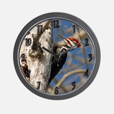 Male Pileated Woodpecker Wall Clock