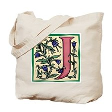 "Garden ""J"" in Mauve (with larger design) Tote Bag"