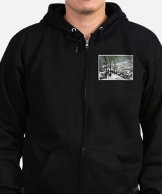 Hunters In The Snow Zip Hoodie (dark) Sweatshirt