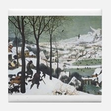 Hunters in the Snow Tile Coaster