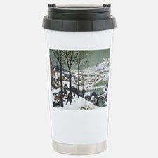 Hunters in the Snow Stainless Steel Travel Mug