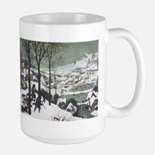 Hunters in the Snow Large Mug
