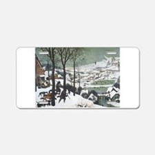 Hunters in the Snow Aluminum License Plate