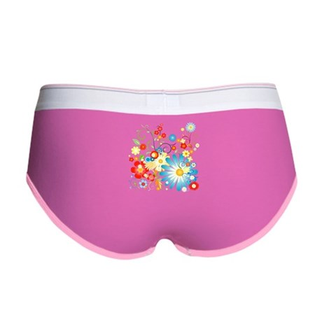 Floral explosion of color Women's Boy Brief