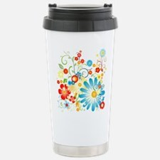 Floral explosion of color Travel Mug