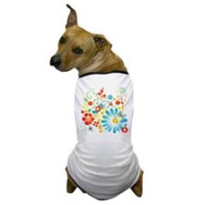 Floral explosion of color Dog T-Shirt
