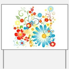 Floral explosion of color Yard Sign