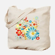 Floral explosion of color Tote Bag