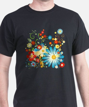 Floral explosion of color T-Shirt