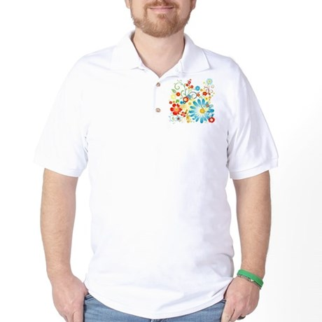Floral explosion of color Golf Shirt