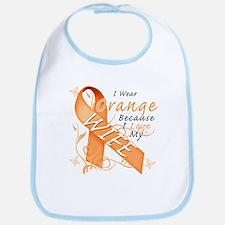 I Wear Orange Because I Love My Wife Bib