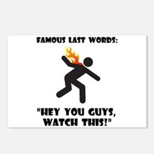 Famous Last Words Postcards (Package of 8)