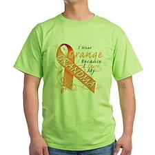 I Wear Orange Because I Love My Grandma T-Shirt